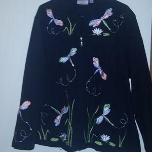 Quacker factory light jacket with dagon flys